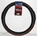 "Rig Matters 18"" Black Woodgrain Style Semi Truck/School Bus Steering Wheel Cover"
