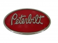 Peterbilt Motors Chrome Finish Oval Belt Buckle