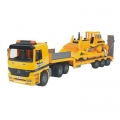 Mercedes Benz Actros Low Loader Truck w/ Caterpillar Bulldozer
