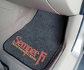 "United States Marines ""Semper Fi"" 2pc Car Mats"