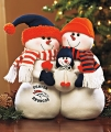 Denver Broncos NFL Table Top Snowman Family