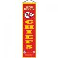 "Kansas City Chiefs NFL Wool 8"" x 32"" Heritage Banners"