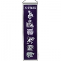 "Kansas State Wildcats NCAA Wool 8"" x 32"" Heritage Banners"