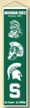 "Michigan State Spartans NCAA Wool 8"" x 32"" Heritage Banners"
