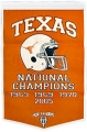 "Texas Longhorns 24"" x 36"" Dynasty Football Wool Banner"