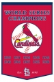 "St. Louis Cardinals 24"" x 36"" Wool Dynasty Banner"