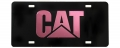 Caterpillar CAT Equipment Pink & Black Acrylic Laser Cut Mirrored License Plate