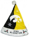 Iowa Hawkeyes Color Block Santa Hat