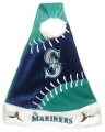 Seattle Mariners Color Block Santa Hat