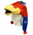 Kansas Jayhawks Mascot Themed Dangle Hat