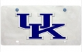 Kentucky Wildcats Silver Laser Cut License Plate w/ Screw Caps