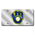 Milwaukee Brewers Laser Cut License Plate