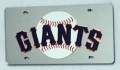 San Francisco Giants Laser Cut/Mirrored Silver License Plate
