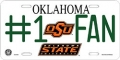 Oklahoma State Cowboys #1 Fan Aluminum License Plate