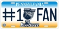 Penn State Nittany Lions #1 Fan Aluminum License Plate