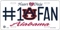 Auburn Tigers #1 Fan Aluminum License Plate