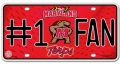 Maryland Terps #1 Fan Aluminum License Plate