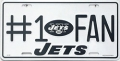 New York Jets #1 Fan Aluminum License Plate