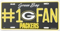 Green Bay Packers #1 Fan Aluminum License Plate