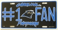 Carolina Panthers #1 Fan Aluminum License Plate