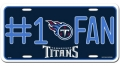 Tennessee Titans #1 Fan Aluminum License Plate