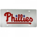 Philadelphia Phillies Laser Cut/Mirrored Silver License Plate