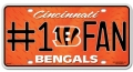 Cincinnati Bengals #1 Fan Aluminum License Plate
