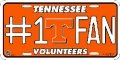 Tennessee Volunteers #1 Fan Aluminum License Plate