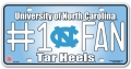 North Carolina Tar Heels #1 Fan Aluminum License Plate