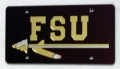 Florida State Seminoles Laser Cut/Mirrored Red License Plate