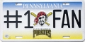 Pittsburgh Pirates #1 Fan Aluminum License Plate