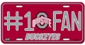 Ohio State Buckeyes #1 Fan Aluminum License Plate