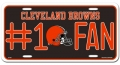 Cleveland Browns #1 Fan Aluminum License Plate
