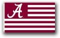 "Alabama Crimson Tide ""Stripes"" 3x5 Flag"