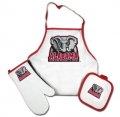 Alabama Crimson Tide NCAA Apron & Mitt Tailgating Set