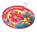 American Extreme FireFighter Flames Hitch Cover