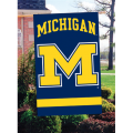 "Michigan Wolverines ""M"" Embroidered Vertical Outdoor Flag"