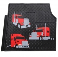 Peterbilt Trucks Motors Trim to Fit Vinyl Heavy Duty Rubber Semi Truck Floor Mats