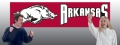 Arkansas Razorbacks 8' x 2' Embroidered Party Banner