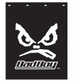 "Bad Boy 24"" x 30"" Black Polyguard Semi Truck Mud Flaps"