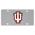 Indiana Hoosiers NCAA Stainless Steel License Plate