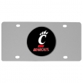 Cincinnati Bearcats NCAA Stainless Steel License Plate