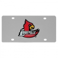 Louisville Cardinals NCAA Stainless Steel License Plate