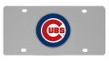 Chicago Cubs MLB Stainless Steel License Plate