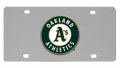Oakland Athletics MLB Stainless Steel License Plate