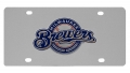 Milwaukee Brewers MLB Stainless Steel License Plate