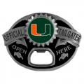 Miami Hurricanes NCAA Bottle Opener Tailgater Belt Buckle