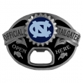 North Carolina Tar Heels NCAA Bottle Opener Tailgater Belt Buckle