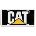 Caterpillar CAT Black & Yellow Aluminum License Plate