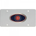 Chicago Cubs Oval Logo MLB Stainless Steel License Plate